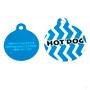 Blueberry Chevron Stripe HD Dog ID Tag