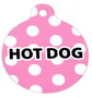 Pink Polka Dot HD Dog ID Tag