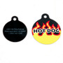 Red Flames HD Dog ID Tag