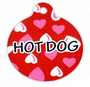 Red Hearts HD Dog ID Tag