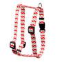 "Peppermint Stick Chevron Stripes Roman Style ""H"" Dog Harness"