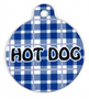 Preppy Boy Blue Plaid HD Dog ID Tag