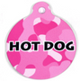 Pink Camo HD Dog ID Tag