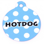 Light Blue Polka Dot HD Dog ID Tag