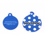 Navy Blue Polka Dot HD Dog ID Tag