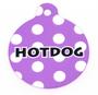 Purple Polka Dot HD Dog ID Tag
