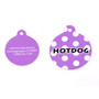 Purple Polka Dot HD Dog ID Tag