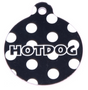 Black Polka Dot HD Dog ID Tag