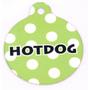 Green Polka Dot HD Dog ID Tag
