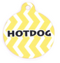Lemon Chevron Stripe HD Dog ID Tag