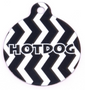 Licorice Chevron Stripe HD Dog ID Tag