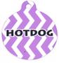 Grape Chevron Stripe HD Dog ID Tag