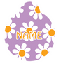 Lavender Daisy HD Dog ID Tag