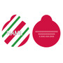 Peppermint Stick HD Dog ID Tag