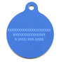Bandana Blue HD Dog ID Tag