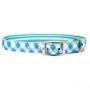 Blue and Green Argyle Uptown Designer Dog Collar