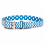 Chevron - Blueberry Uptown Designer Dog Collar