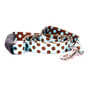 Blue and Brown Polka Dot Uptown Designer Dog Leash