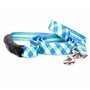 Blue and Green Argyle Uptown Dog Leash