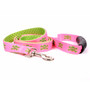 Pink and Green Skulls Uptown Designer Dog Leash