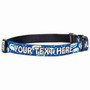 Personalized Geometric Blue Dog Collar