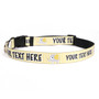 Personalized Yellow Elephants Dog Collar