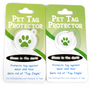Tartan Plaid Blue HD Dog ID Tag