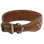 2 Inch Wide SmoothStud Nameplate Leather Dog Collar