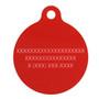 Geometric Red HD Dog ID Tag