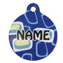 Geometric Blue HD Dog ID Tag