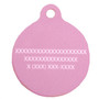 Madras Plaid Pink HD Dog ID Tag