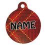Red Kilt Plaid HD Dog ID Tag