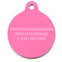 Petite Pink Ribbons HD Dog ID Tag