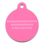 Pink Argyle HD Dog ID Tag