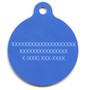 Rainbow Chevron HD Dog ID Tag