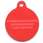 Red Argyle HD Dog ID Tag