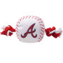 Atlanta Braves Nylon Rope Baseball Squeaker  Dog Toy