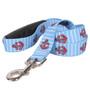 Anchors on Blue Stripes EZ-Grip Dog Leash