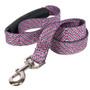 Pink Tweed EZ-Grip Dog Leash