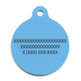 Island Floral Blue HD Dog ID Tag