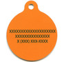 Island Floral Orange HD Dog ID Tag