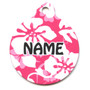 Island Floral Pink HD Pet ID Tag