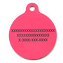 Island Floral Pink HD Dog ID Tag