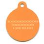 Madras Plaid Orange HD Dog ID Tag