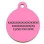 Watermelon Polka Dots HD Dog ID Tag