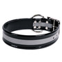 Black REFLECTIVE 1.5In WIDE SunGlo All Weather Dog Collar