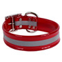 Red REFLECTIVE 1.5In WIDE SunGlo All Weather Dog Collar