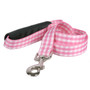 Southern Dawg Gingham Pink Premium Dog Leash