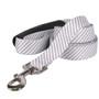Southern Dawg Seersucker Gray Premium Dog Leash