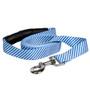 Southern Dawg Seersucker Navy Blue Premium Dog Leash